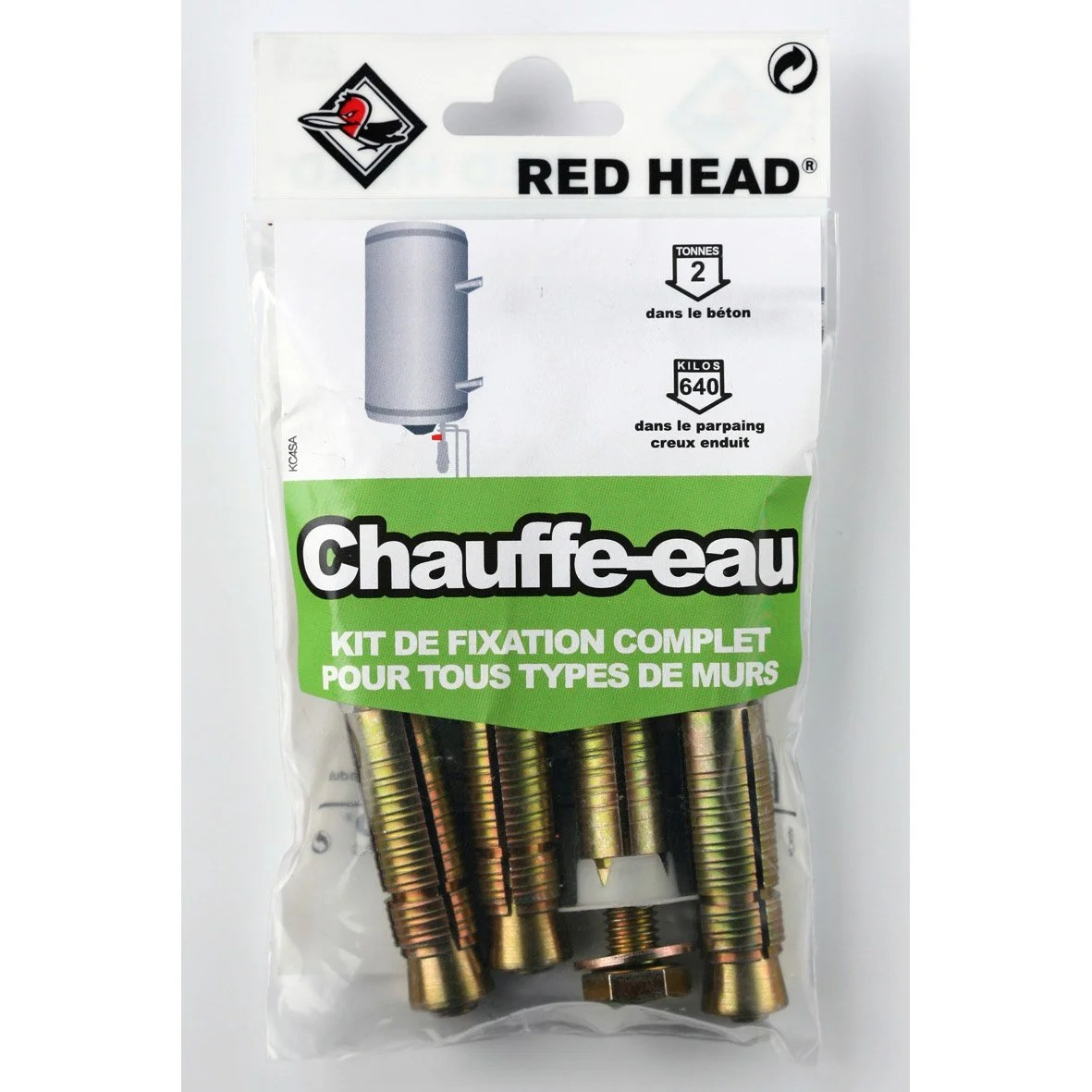 Store Banne Fixation Plafond Kit Chevilles à Expansion Chauffe Eau Red Head Diam 16 X