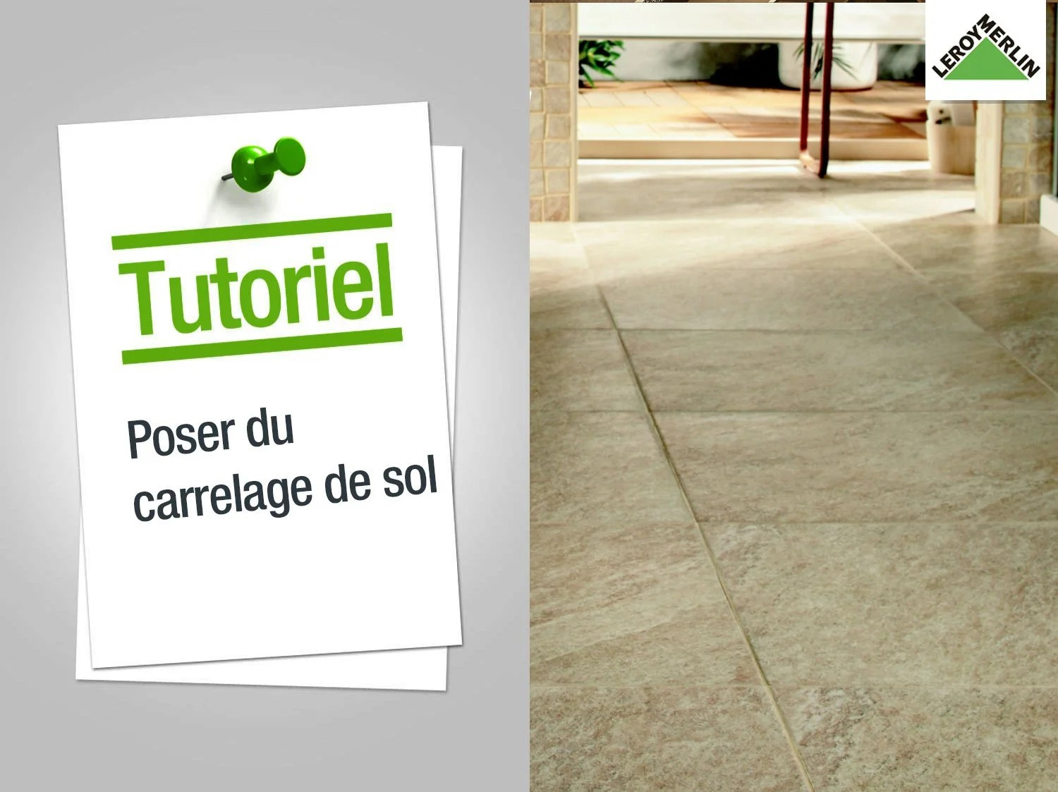 Comment Poser Du Travertin Comment Poser Du Carrelage Au Sol Leroy Merlin