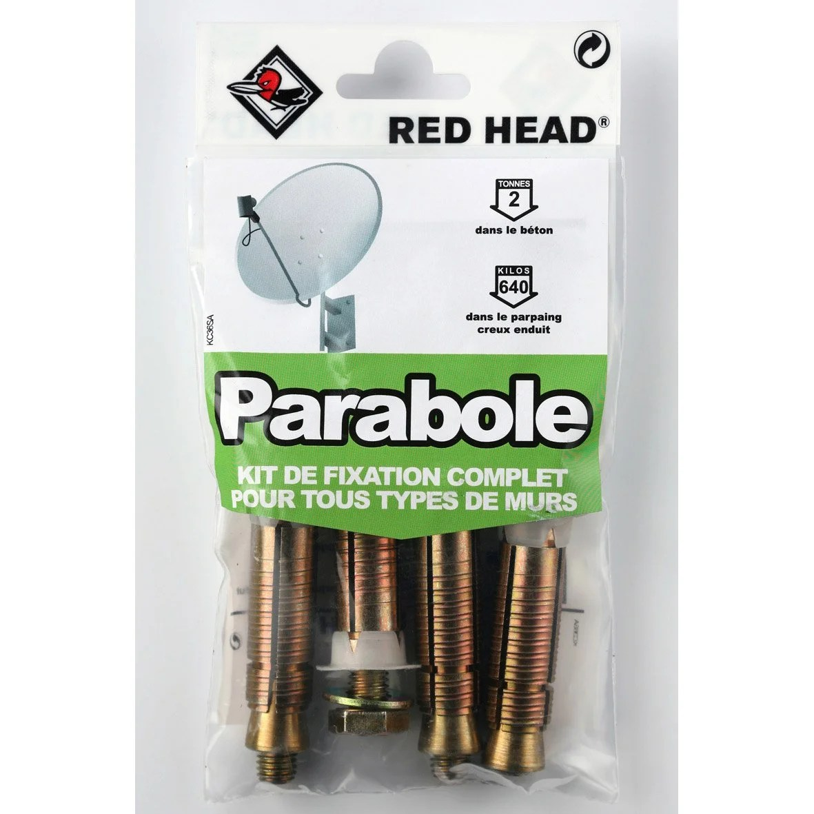 Fixation Parabole Leroy Merlin Kit Chevilles à Expansion Parabole Red Head Diam 16 X L