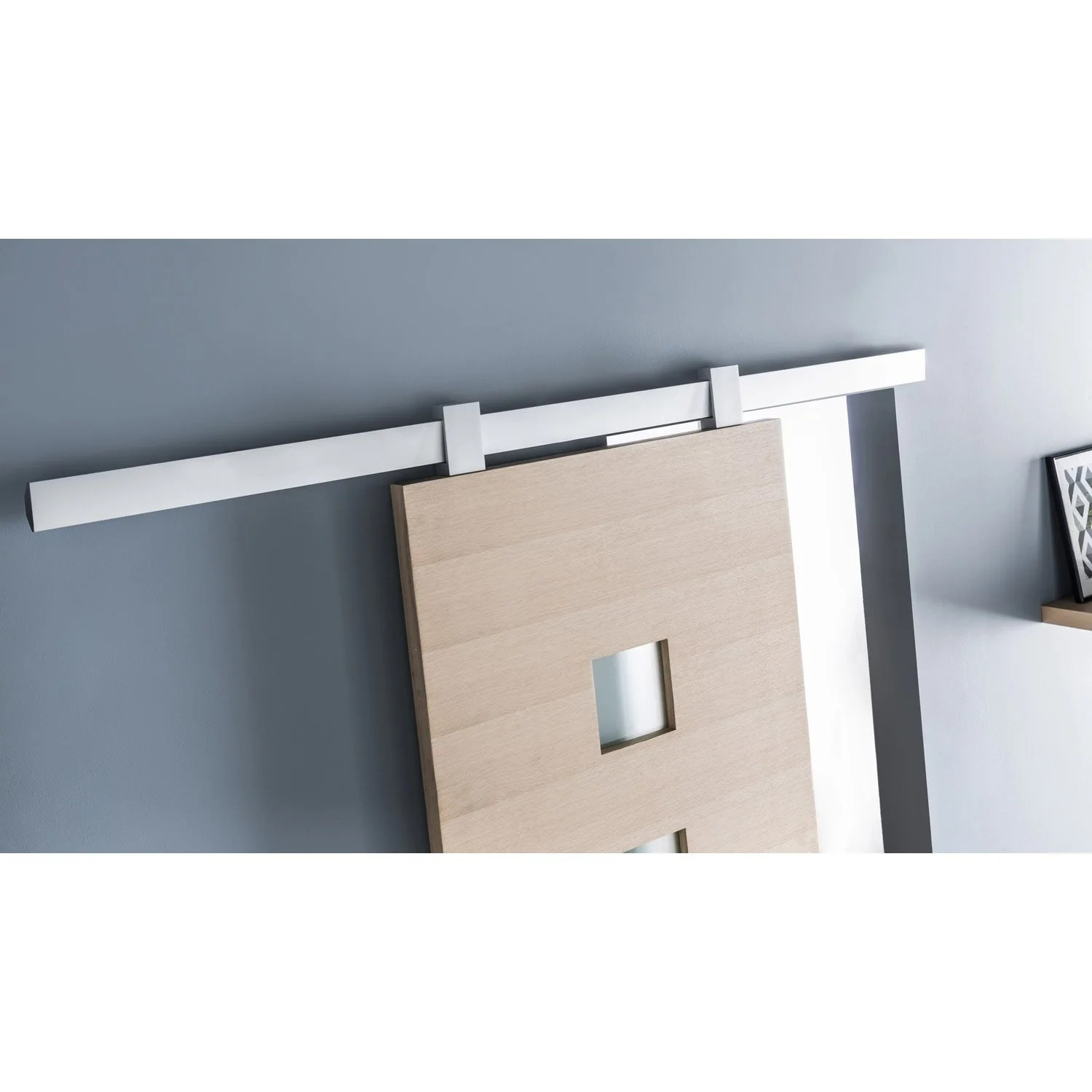 Systeme Optima Leroy Merlin Rail Coulissant Gota Pour Porte De Largeur 93 Cm Maximum