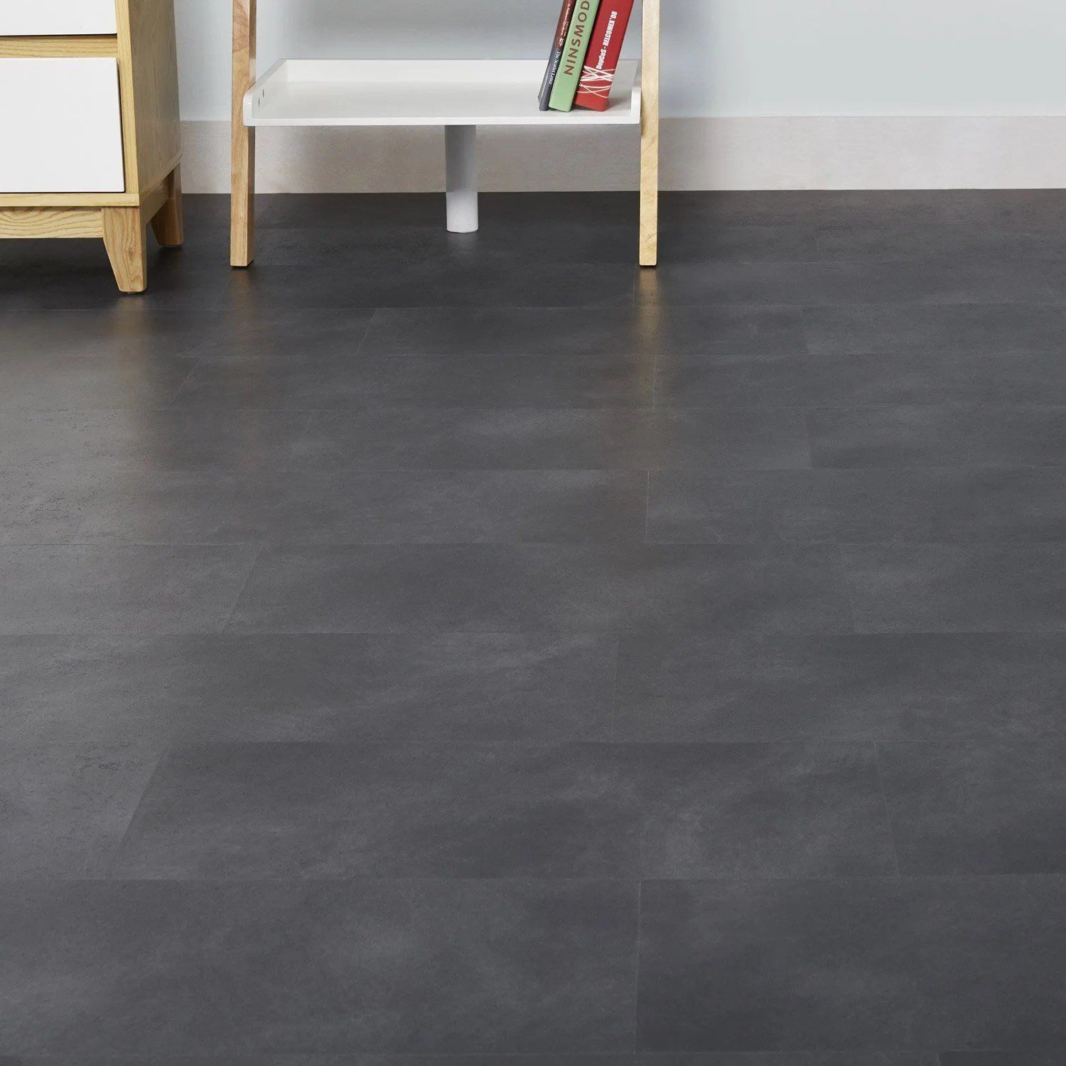 Dalle Lino Clipsable Dalle Pvc Clipsable Effet Beton Anthracite Artens Moods
