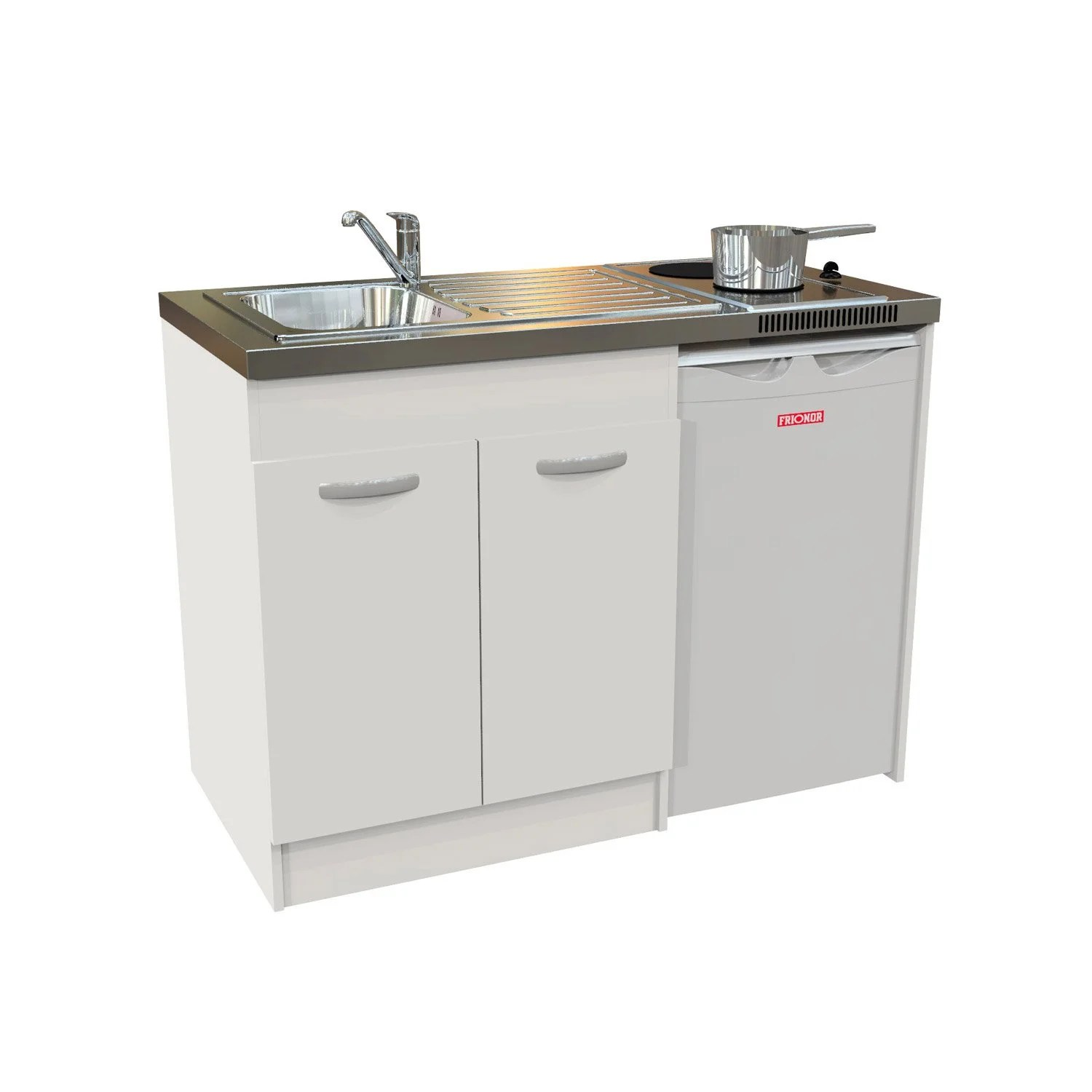 Kitchenette Leroy Merlin Kitchenette Spring électrique 120x60 Cm Blanc Leroy Merlin