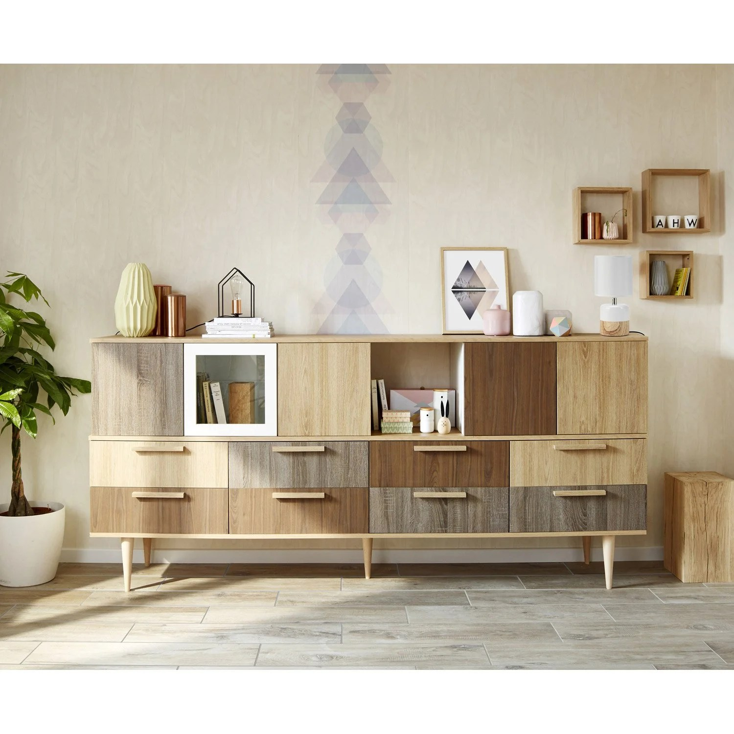 Buffet Leroy Merlin Porte Battante Spaceo Home 40 X 40 X 1 6 Cm Transparent