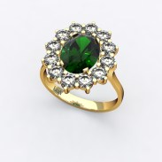 bague-entourage-marguerite-or-jaune-diamants-emeraude-0
