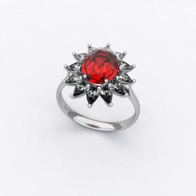 bague-entourage-sienna-poire-diamant-rubis-ovale