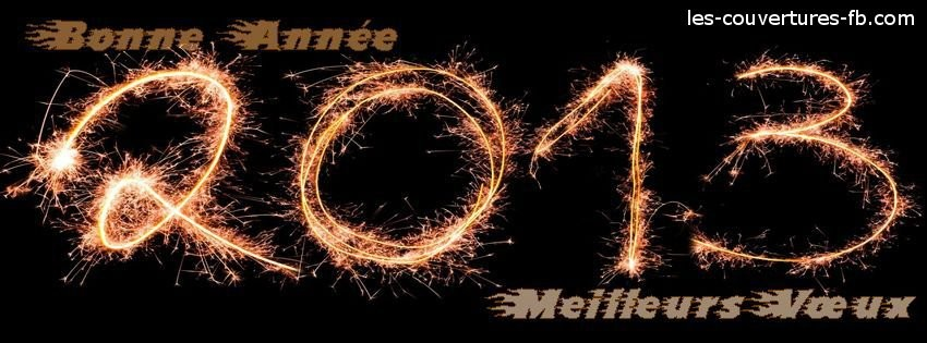 bonne année-Photo de couverture journal Facebook