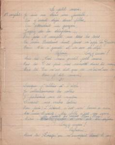 fin de l'écriture manuscrite : page d'écriture des années 1930-1940 !