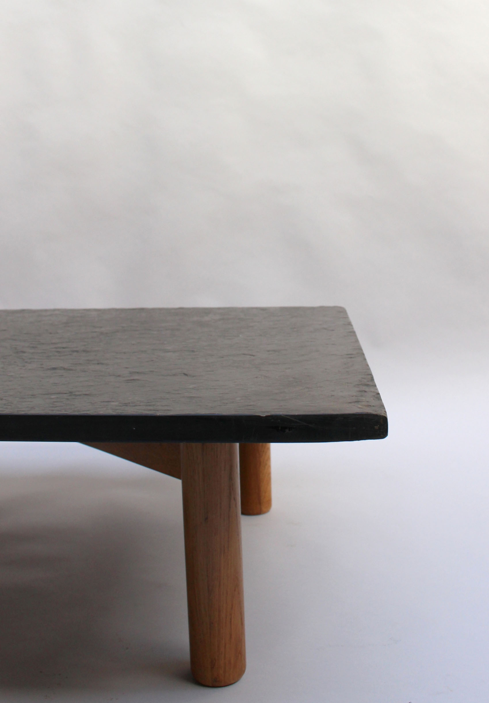 Table Basse En Bois French Midcentury Slate And Oak Coffee Table
