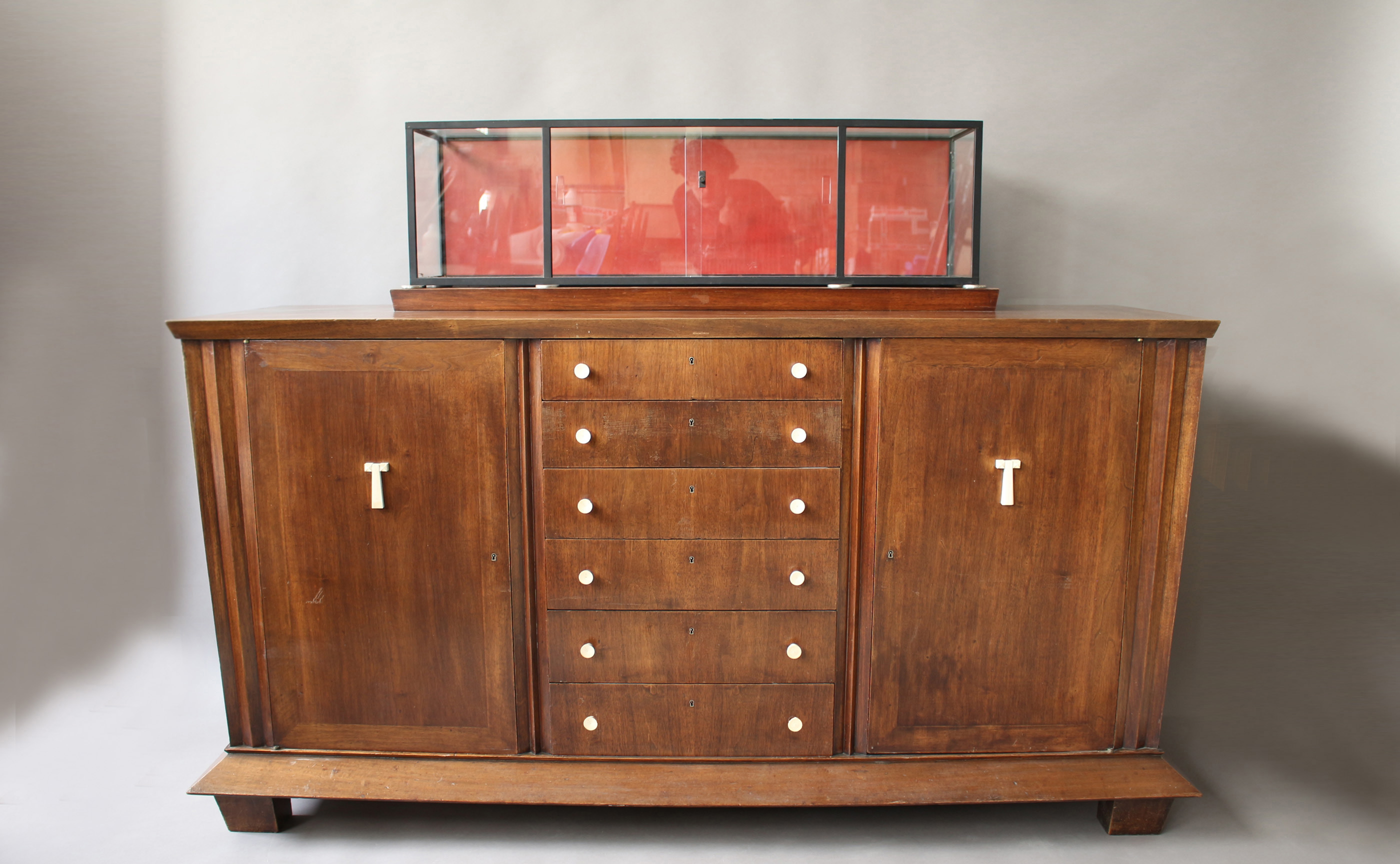 Sideboard Vitrine Rare Fine French Art Deco Walnut Sideboard By Jean Charles Moreux