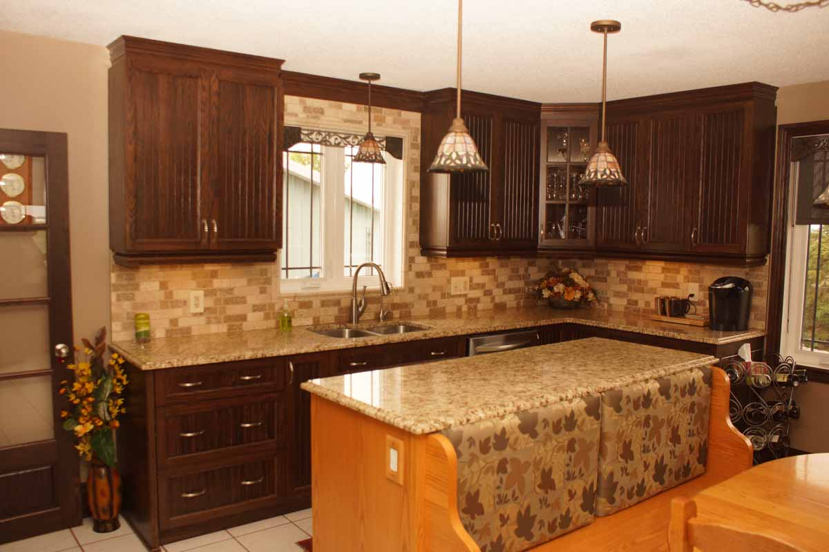 Used Oak Kitchen Cabinets Choco Oak Kitchen Les Armoires Séguin Cabinets