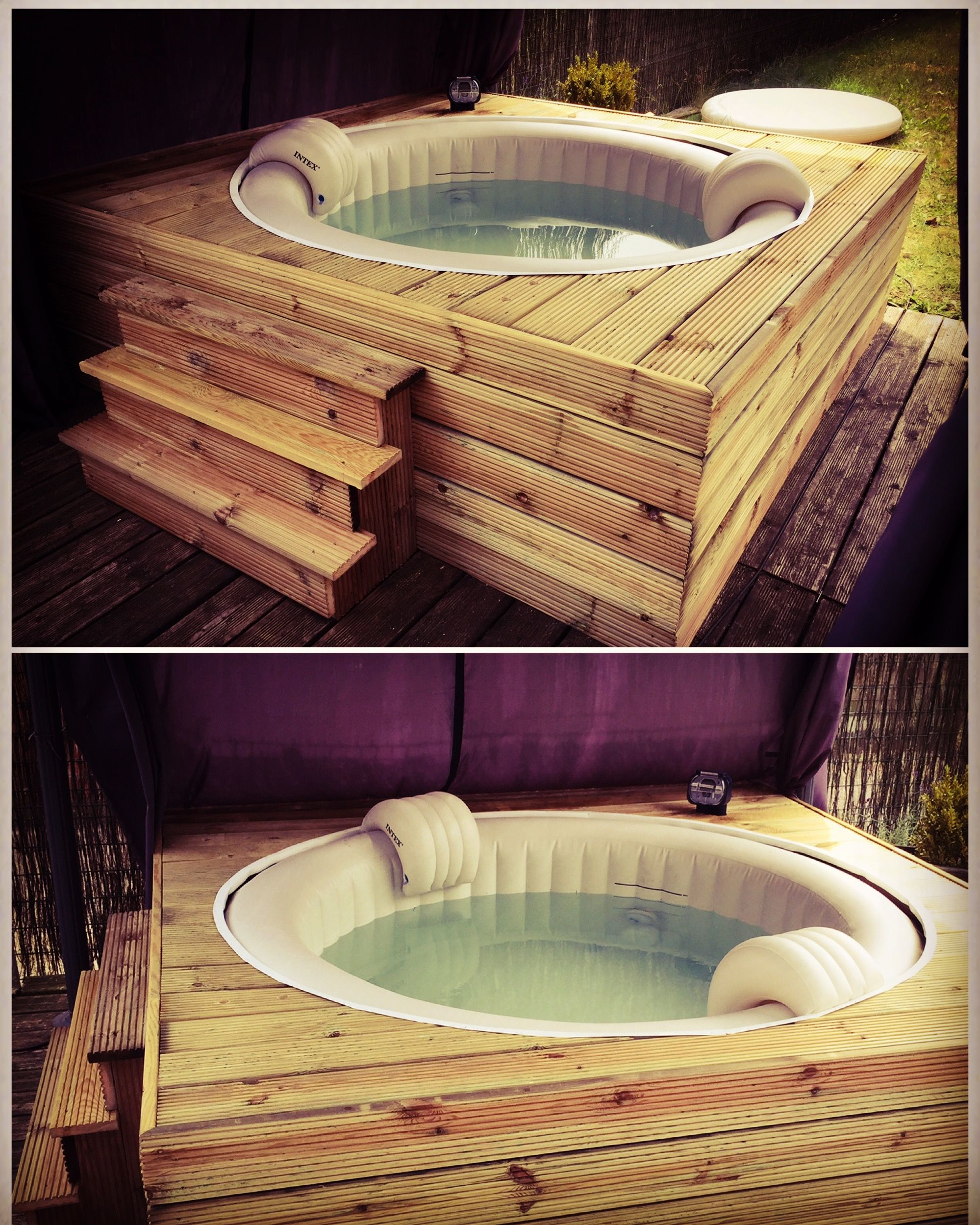 Habillage Jacuzzi Gonflable Intex Fabrication D Un Habillage En