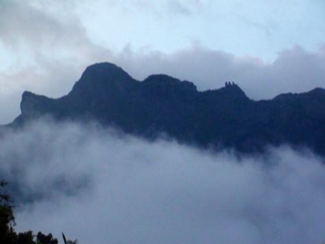 Les Trois Salazes vu de Cilaos, Réunion