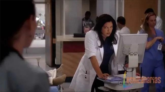 Callie enfadada