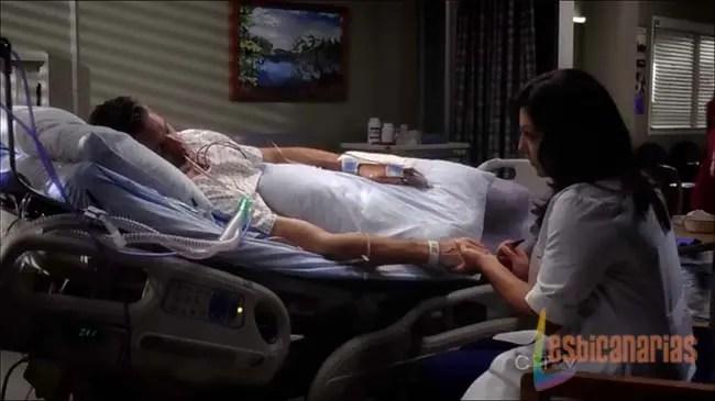 Callie con Mark en coma