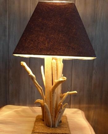 lampe bois flotte cap ferret bro