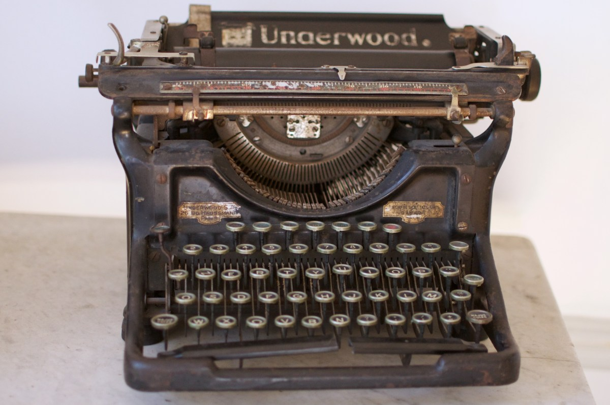 Ma Underwood, ma vieille machine à écrire