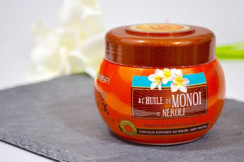 masque garnier huile monoi néroli routine cheveux roaccutane curacné les deboires de carlita