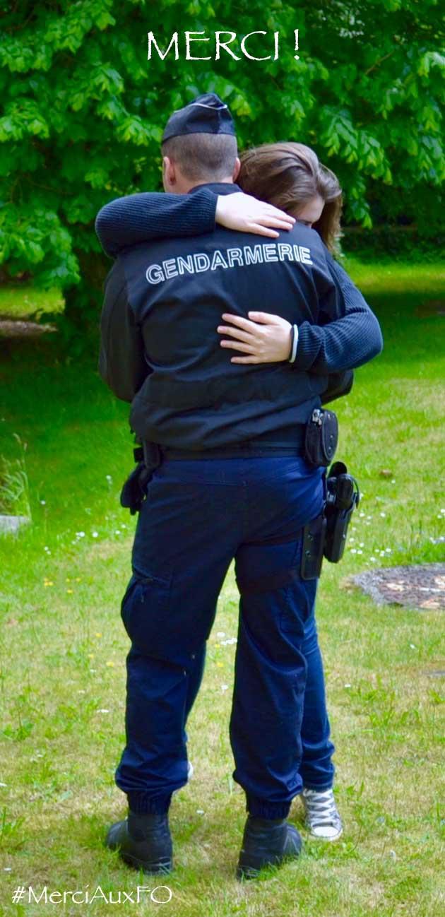 #merciauxFO câlin soutien aux forces de l'ordre merci aux forces de l'ordre