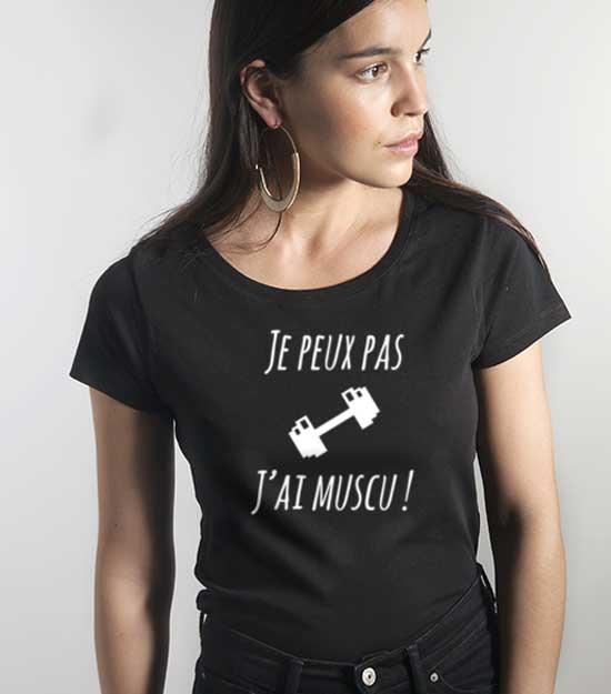 boutique en ligne coups de coeur sportswear tee shirt je peux pas j'ai muscu balibart les déboires de carlita