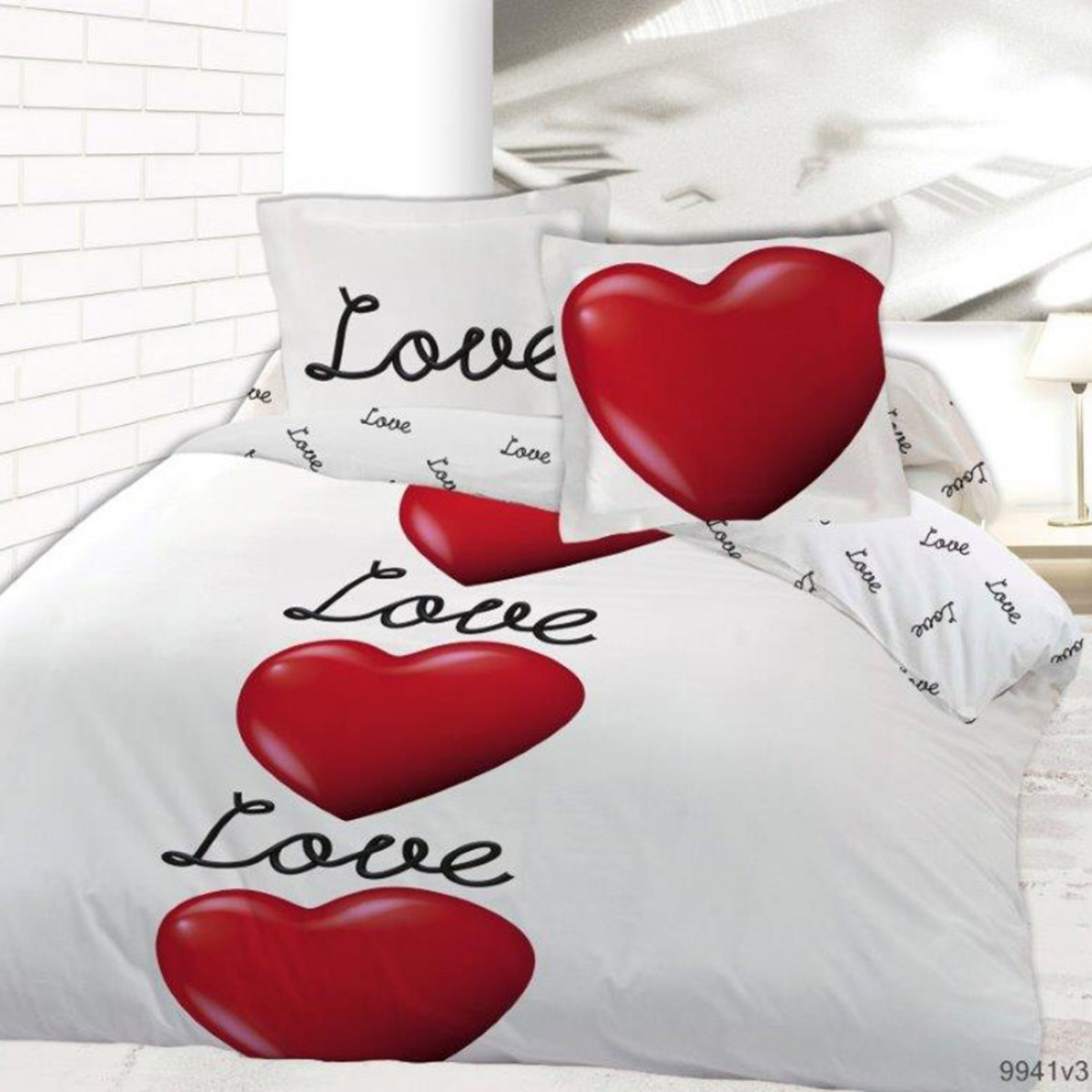 Housse De Couette Unie 200x200 Housse De Couette Love Is In The Air 200x200 Les Douces
