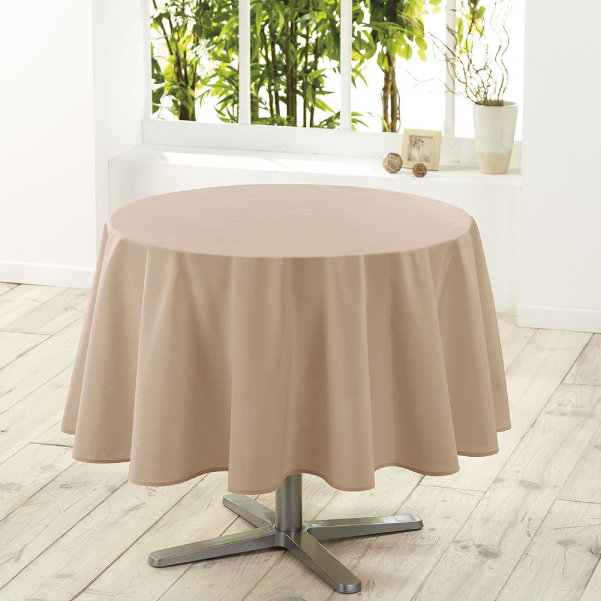Nappe De Table Ronde Nappe De Table Ronde Ø180cm Essentiel Lin Antitache