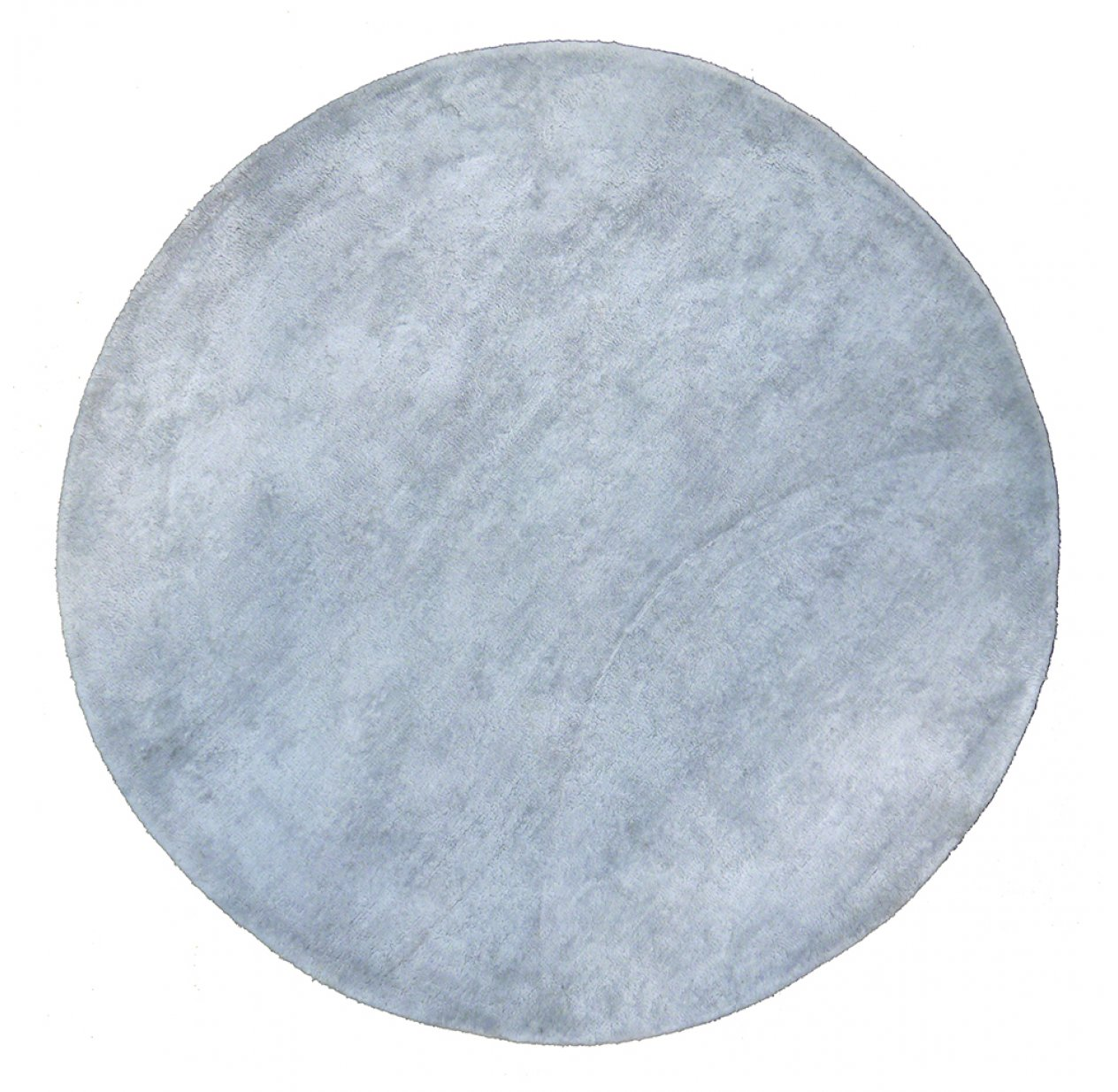 Tapis Rond Tapis Rond Poils Courts Gris Clair