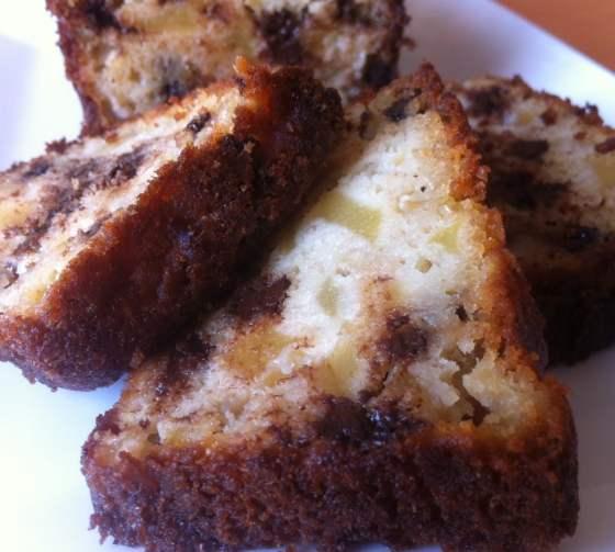 Cake Amandes, Pommes et Pépites de Chocolat