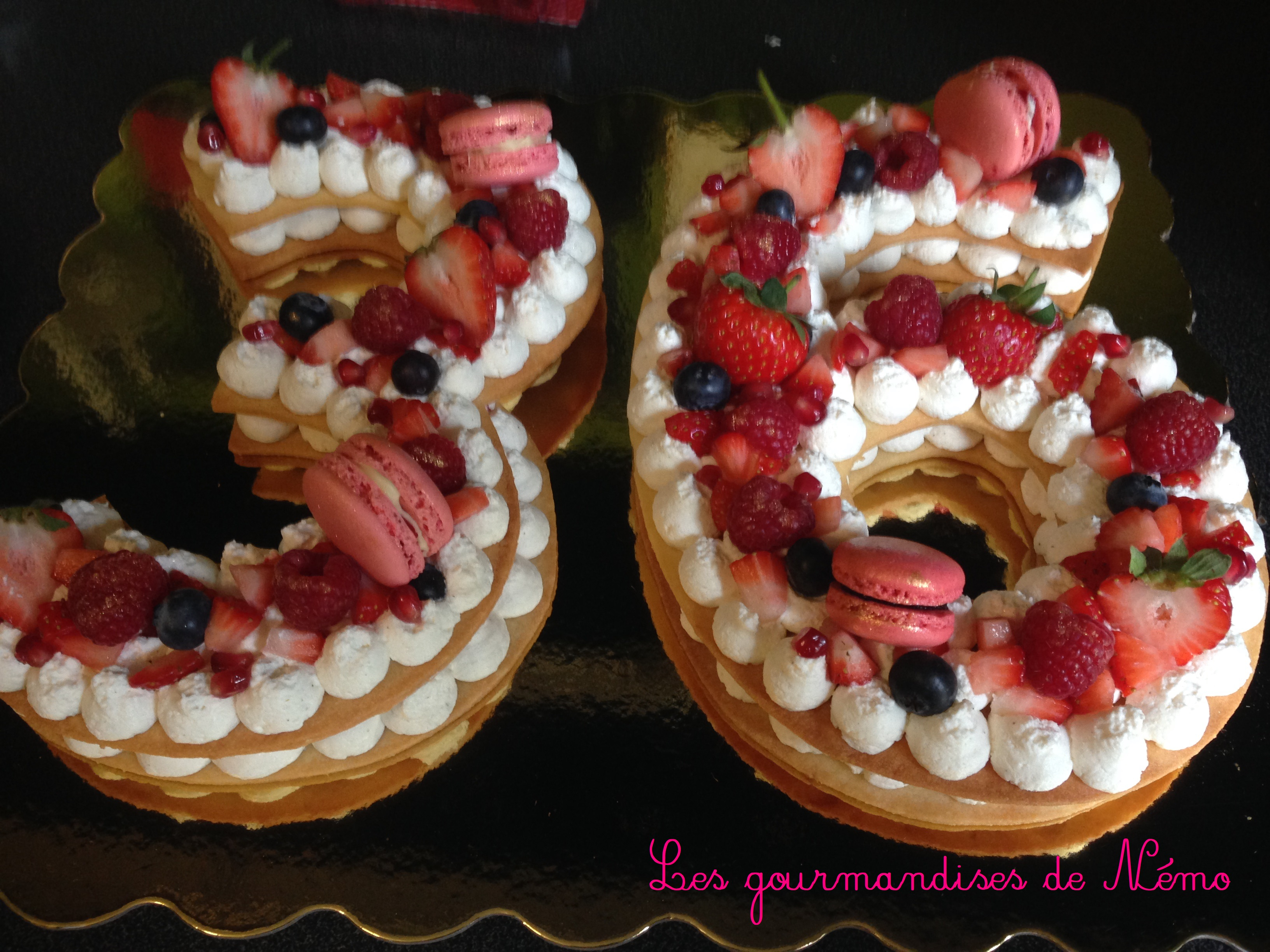 Decoration Gourmandise Number Cake Aux Fruits Rouges | Les Gourmandises De Némo