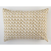 New Lattice Standard Pillow In Gold | Les Indiennes
