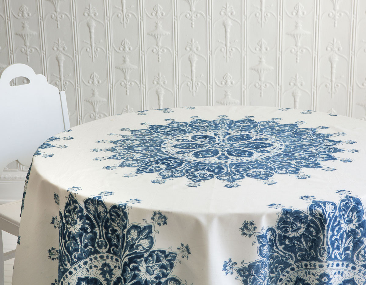 Square Tablecloth Celestine 58 Square Tablecloth Les Indiennes