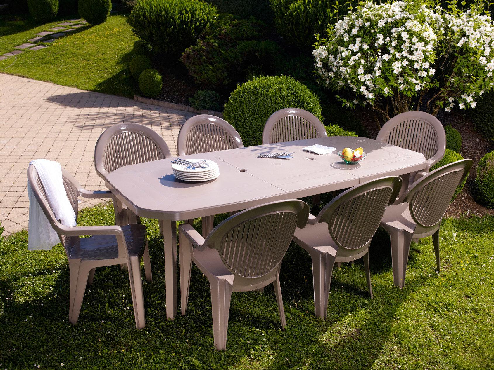 Salon De Jardin Grosfillex Taupe | Beautiful Salon De Jardin ...