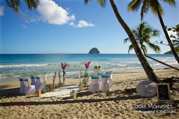 Ceremonie de mariage sur une plage de Martinique 1