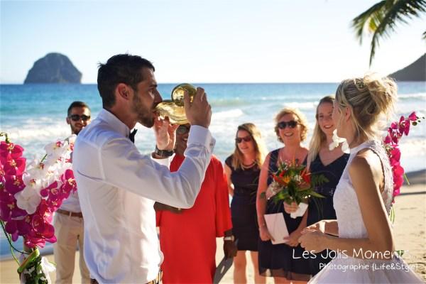 Ceremonie de mariage sur une plage de Martinique 12