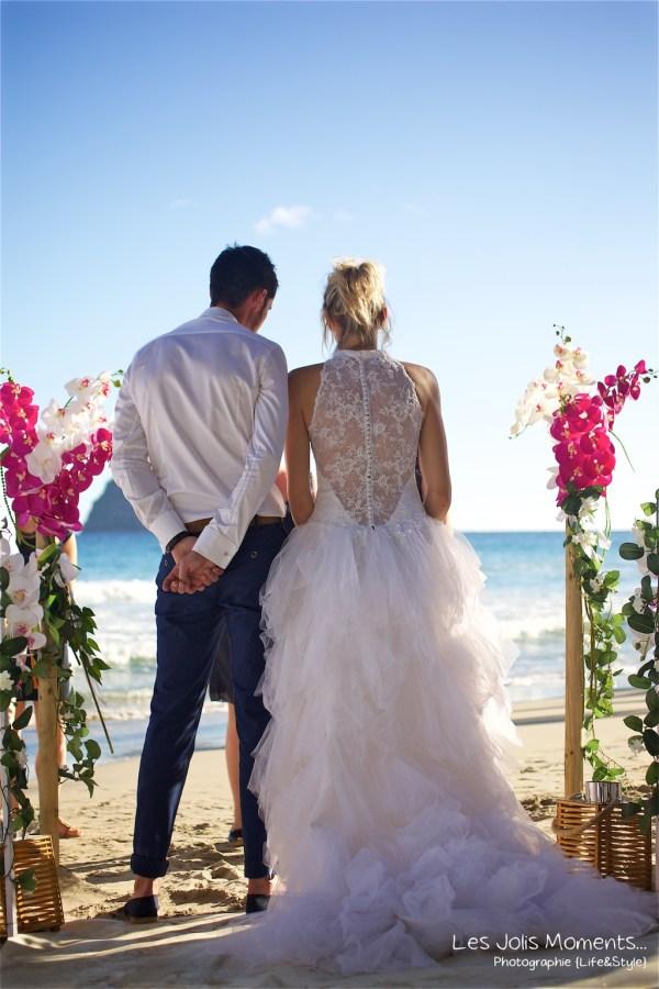 Ceremonie de mariage sur une plage de Martinique 15