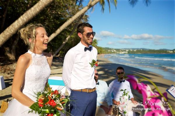 Ceremonie de mariage sur une plage de Martinique (2)