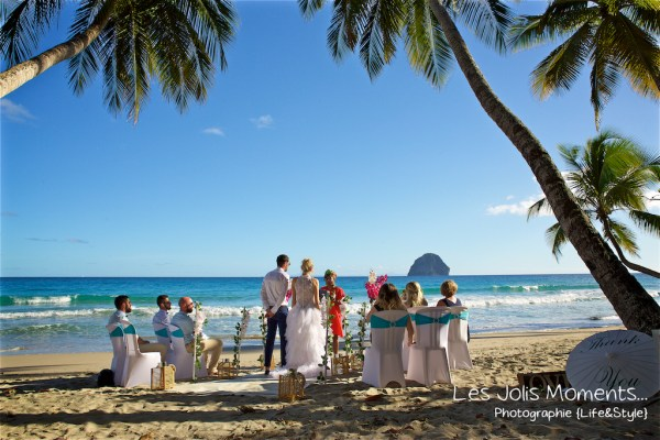 Ceremonie de mariage sur une plage de Martinique 6