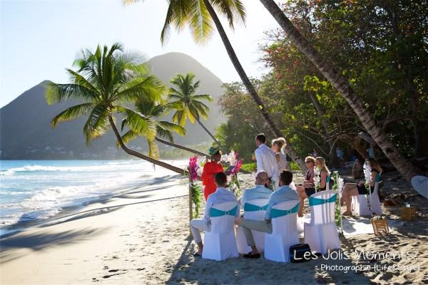 Ceremonie de mariage sur une plage de Martinique 7