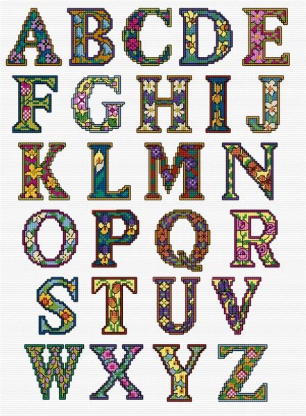 LJT204 Alphabet Illuminated letters \u2014 Alphabets \u2014 Lesley Teare