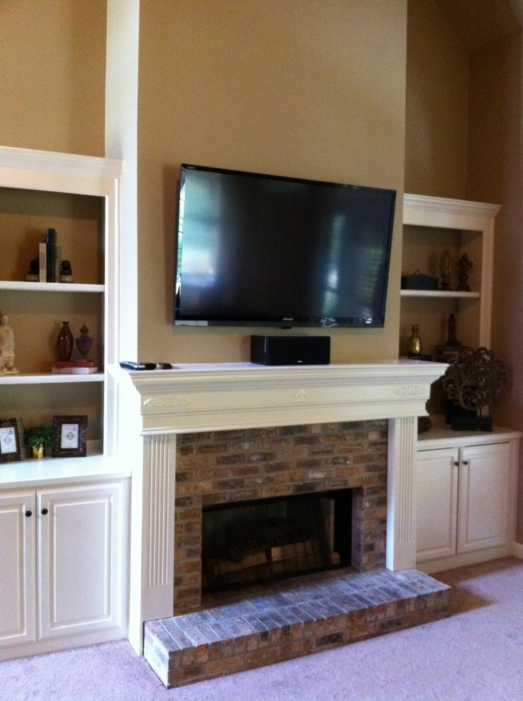 Sonos Sound System Fireplace Wall Mounted Tv Installation | Leslievillegeek