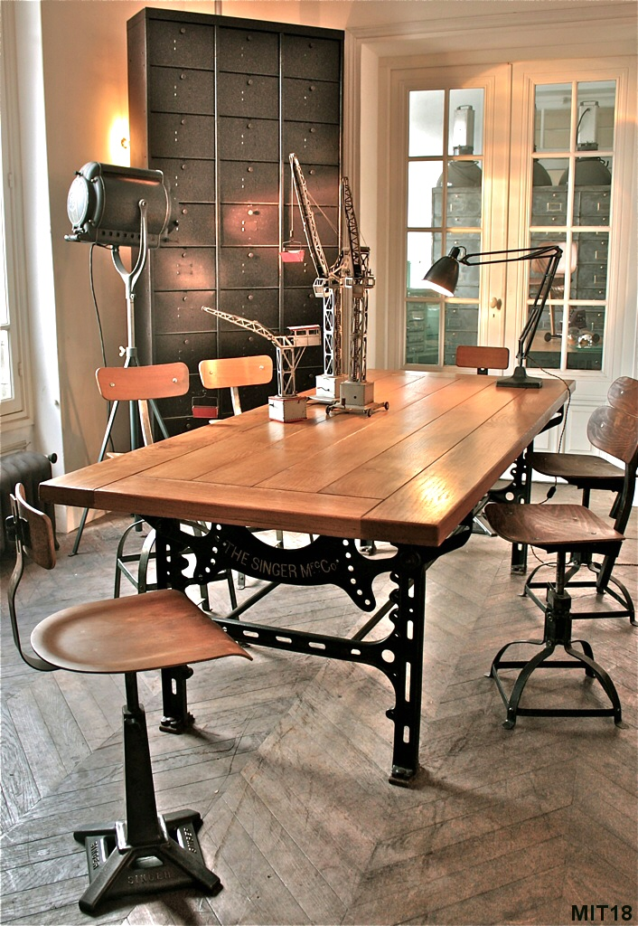 Bureau Meuble Table Singer