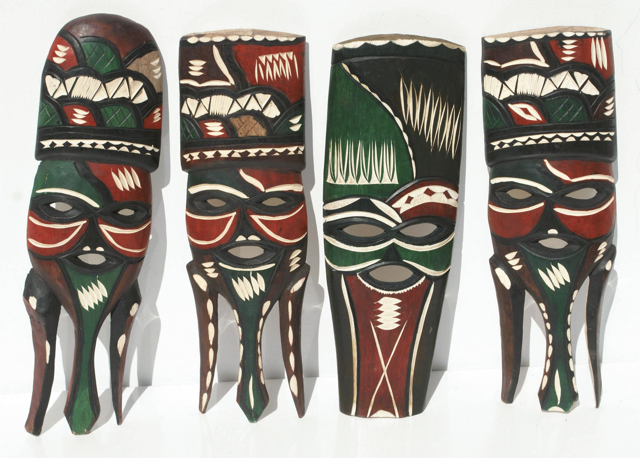 Masque Venitien Decoration Murale Tribal Mask, Handmade Products From Lesotho, Africa