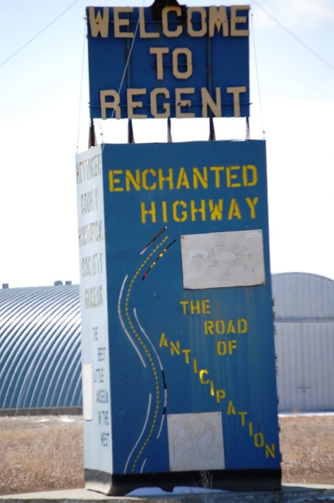 Welcome to Regent and Enchanted Highway Road Map