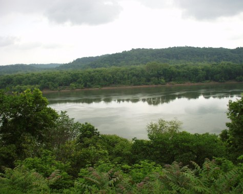 A typical scene of Ohio River as seen from the Scenic Byway
