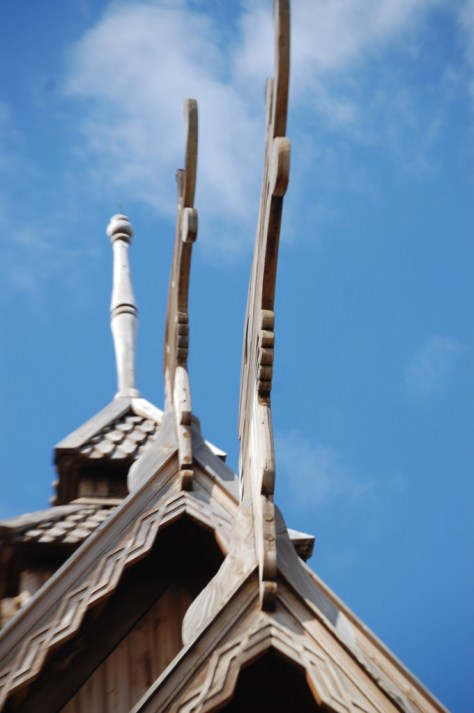Dragons atop the Stave Church