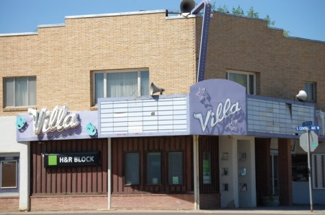 Villa Theater in Malta, Montana. One of many old theater fronts to be seen along the Hi-Line of Montana