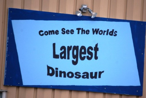 Come See the World's Largest Dinosaur in Bynum, Montana