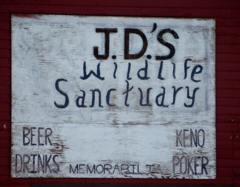 J.D.'s Wildlife Sanctuary in Bynum. Apparently known for its steaks.