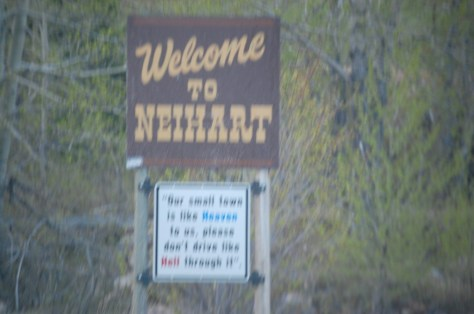 Welcome to Neihart, Montana (oh well...not all photos come out perfect!)