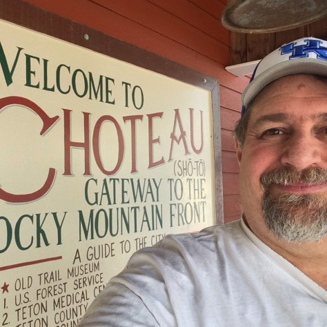 Welcome to Choteau, Montana sign