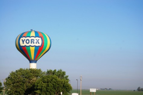 Water tower in York, Nebraska